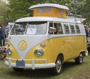 Classic VW Bus at Car Show